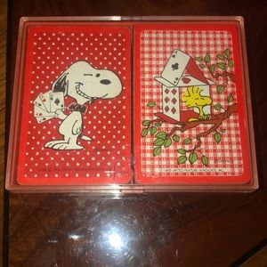 VNTG Snoopy Playing Cards